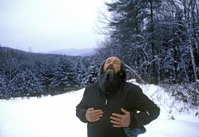 Александр Солженицын в Вермонте.