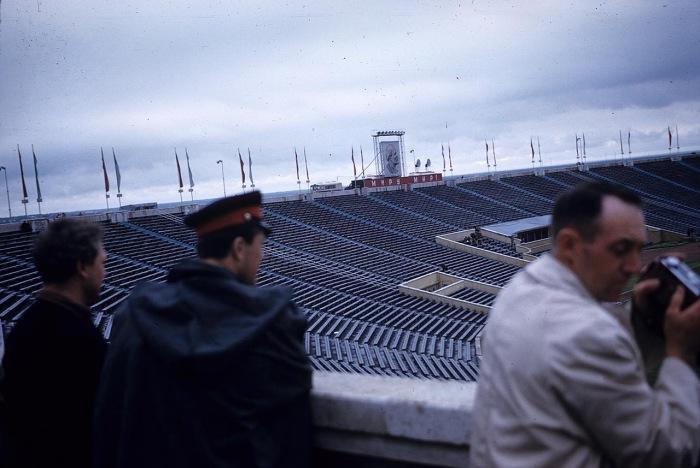 Стадион имени Кирова на Крестовском острове. СССР, Ленинград, 1959 год.
