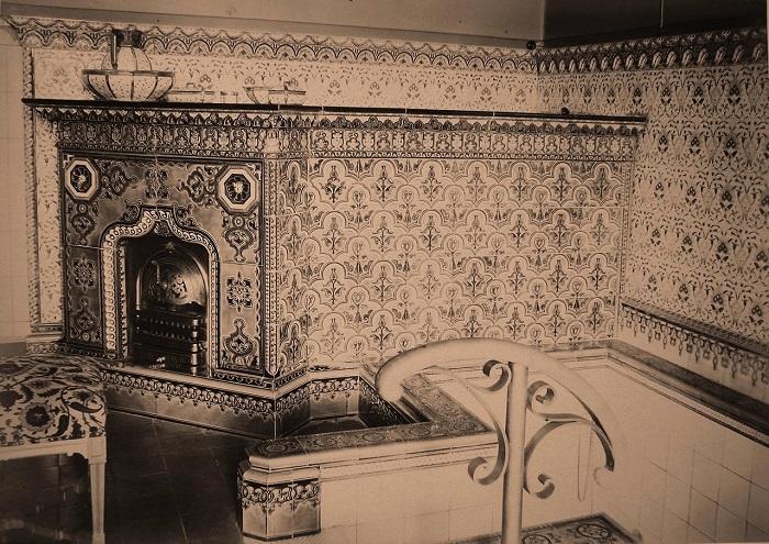 Часть ванной комнаты наследника цесаревича. Беловежская пуща, императорский охотничий дворец, 1894 год.