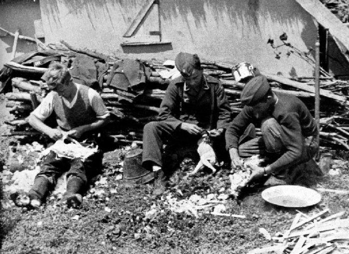Быт немецких солдат и офицеров на Восточном фронте. СССР, Украина, 1941 год.