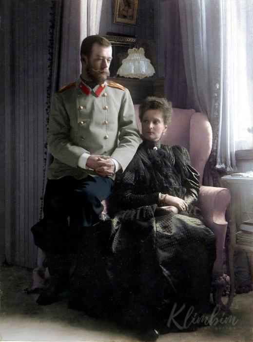 Николай II и Александра Фёдоровна в 1899 году.