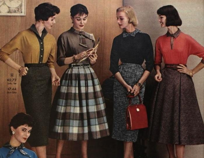 Фото из журнала мод, сделанное в 1957 году.