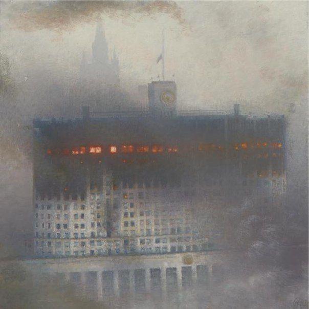 В ходе событий 1993 года Дом Советов превратился в мишень для танков Таманской дивизии.