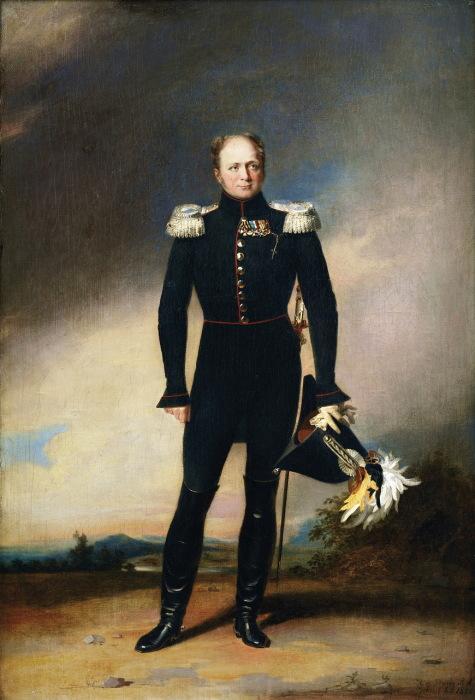 Портрет императора и самодержца Всероссийского Александра I.