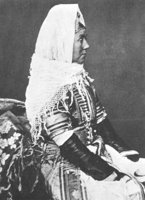 Абхазка с берегов Черного моря. 1890 год.
