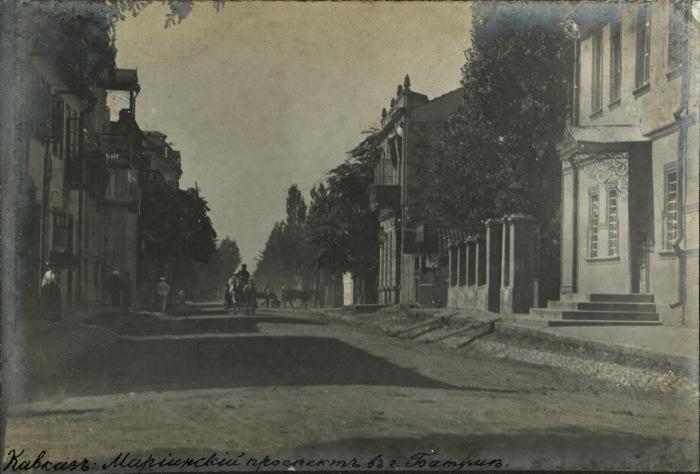 Мариинский проспект в городе Батуме. Кавказ, 1897 год.