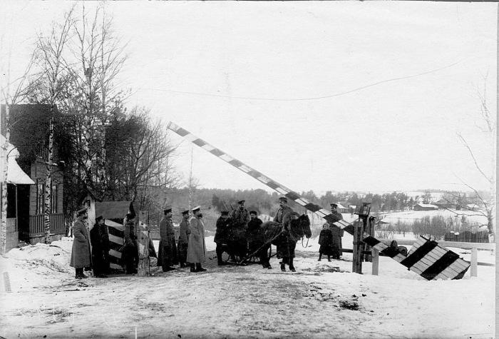 Один из пограничных постов. Россия, 1908 год.