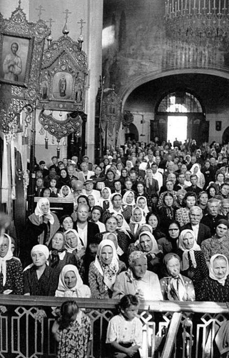 Храм Воскресения Христова в Сокольниках. СССР, Москва, 1954 год.