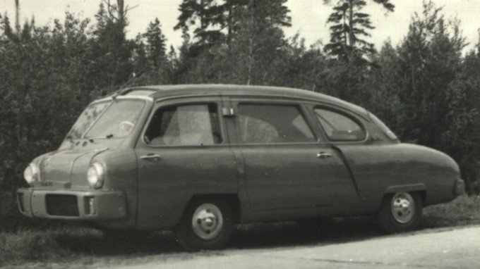 Первый оригинальный послевоенный, авангардный и экспериментальный автомобиль НАМИ, 1950 год.