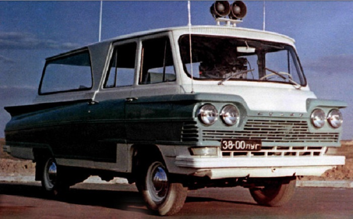 Луганский микроавтобус Старт, испытания которого завершились в конце 1965 года.