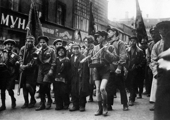 День международной солидарности трудящихся - Первомай. Город Москва, 1929 год.