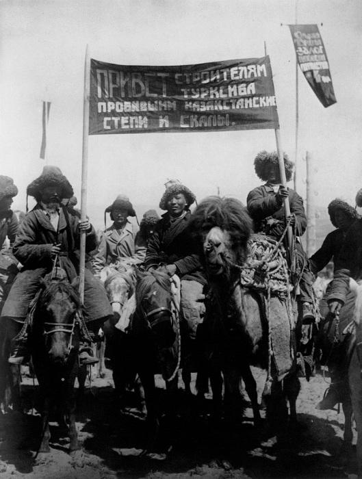 Строительство Турксиба. Казахстан, 1929 год.