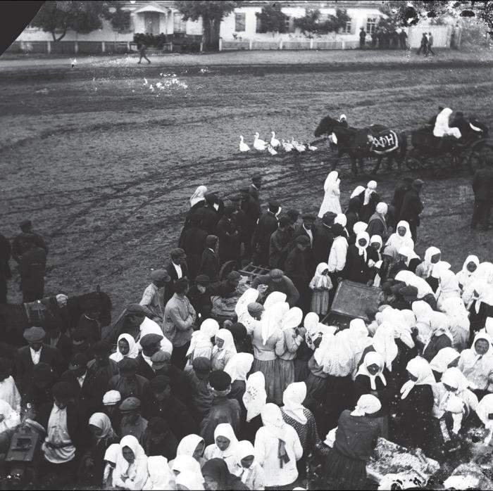 Собрание в селе Удачное. СССР, Украина, Донецкая область, 1930 год.