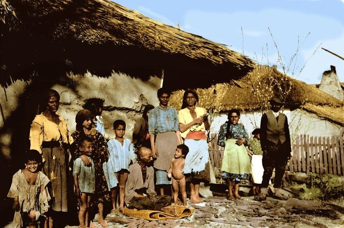 Роми, проживающие на территории Украины в 1941 году.