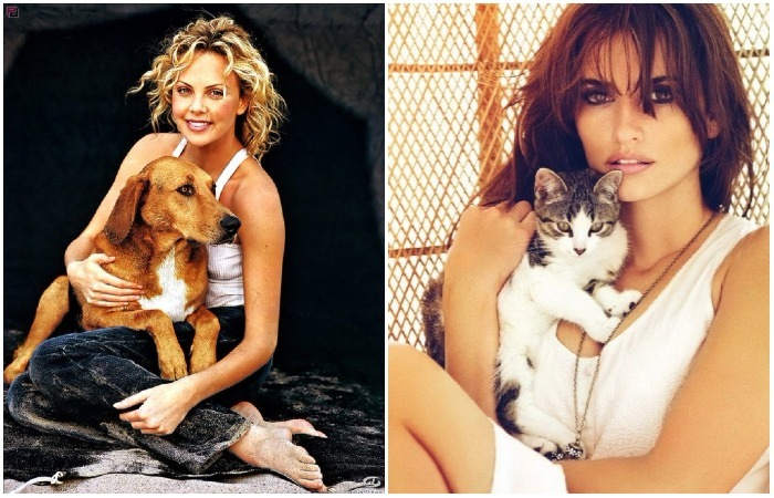 Фотографии знаменитостей с животными, которых они так любят.
