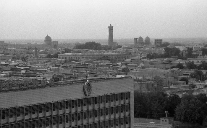 Панорама города. СССР, Узбекистан, Бухара, 1984 год.