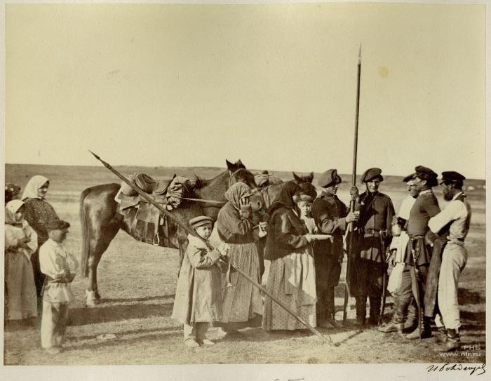 Проводы донских казаков на службу. Сентябрь 1876 год.