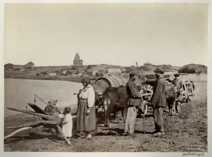 Проводы казака в поле. 1875-1876 год.