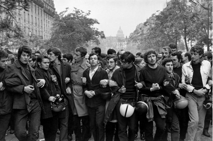 Студенческая демонстрация, проходившая в период майских события во Франции в 1968 году.