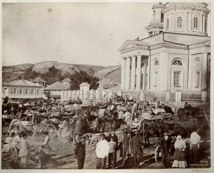 Базар в праздник в Цимлянской станице. 1875-1876 год.