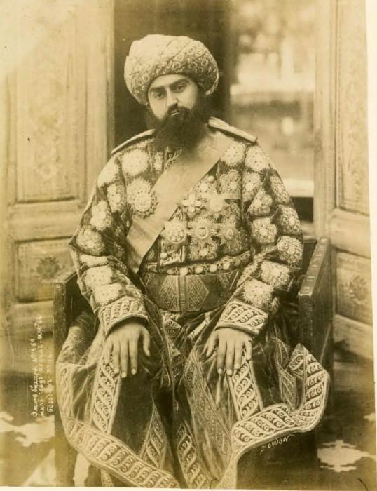 Бухарский эмир. Сайид Музаффаруддин Бахадур Хан. Середина 19 века.