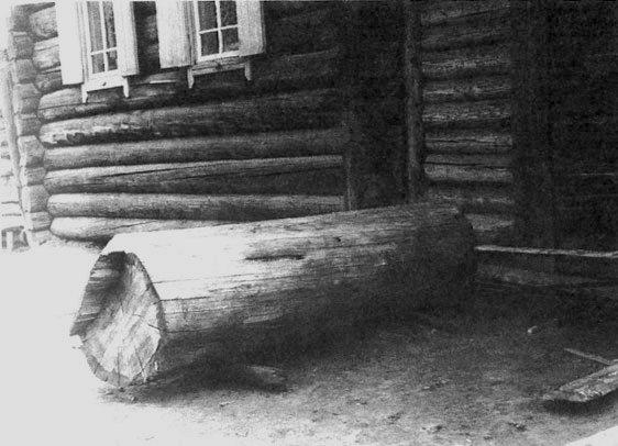 Колода для домовины у дома - знак проживания в нем стариков. Бурятия