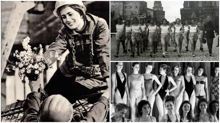 Подборка фотографий советских женщин и девушек.