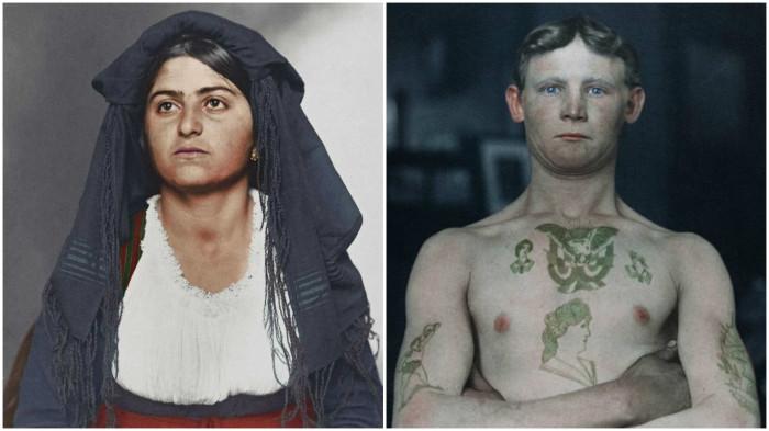 Ретро фотографии эмигрантов, прибывших в Нью-Йорк в начале XX века.