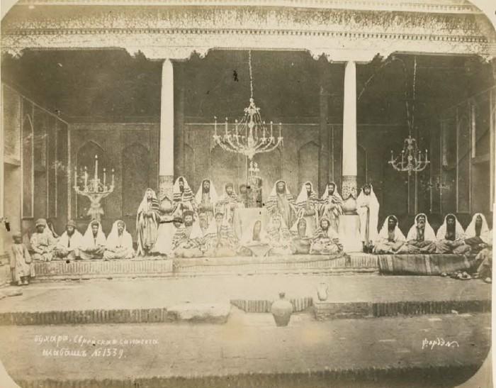 Еврейская синагога. Шабат. Бухара, середина 19 века.