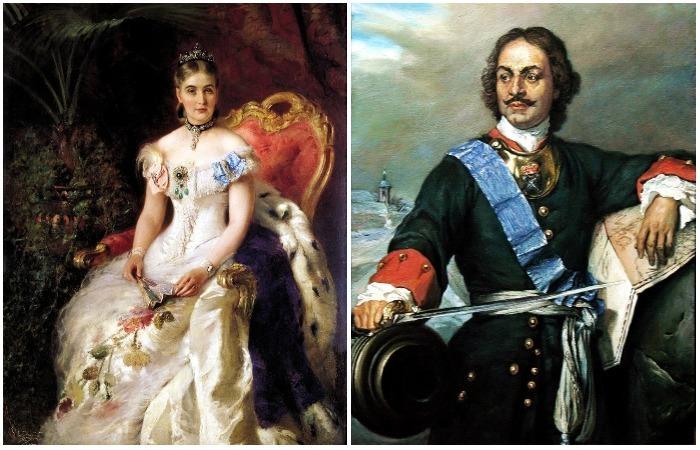 Портреты членов императорской семьи и их окружения.