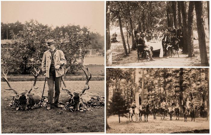 Редкие фотографии, сделанные во время царской охоты в 1894 году.