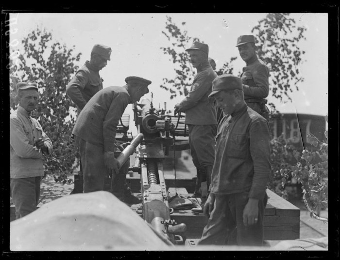 Чешская артиллерия. Сибирь, лето, 1919 год.
