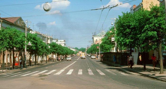 На улицах Владимира в 1985 году.