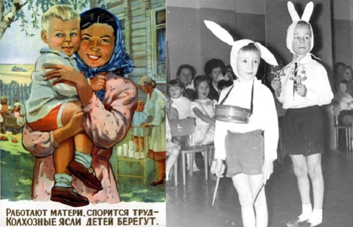 Дошкольное образование в объективе фотографов разных эпох.