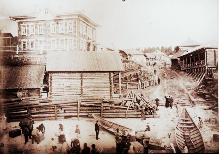 Заготовка древесины. Село Малый Атлым, начало ХХ века.