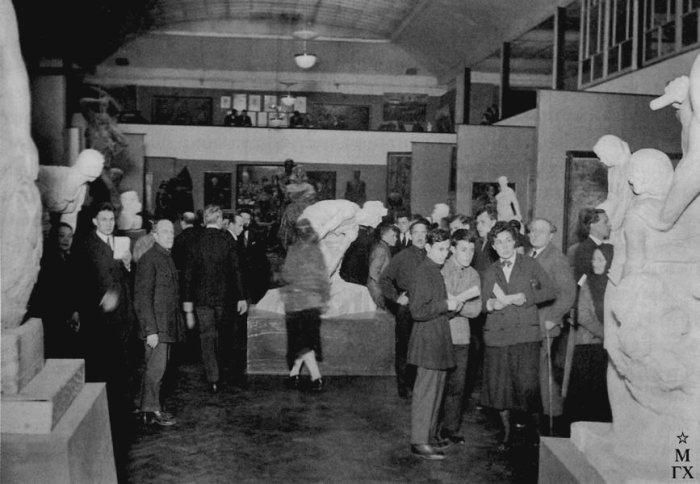 Выставка МОСХ на Кузнецком Мосту. Москва. Середина 1930-х.