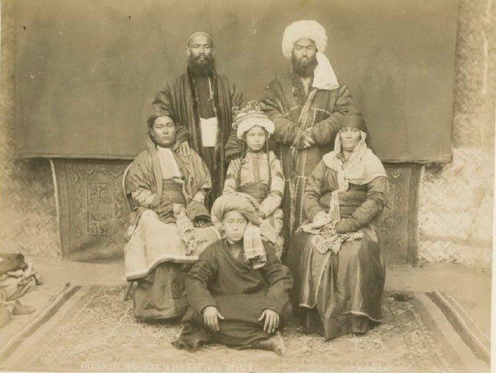 Жених и невеста. Бухара, середина 19 века.