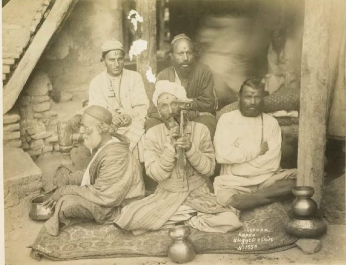 Карки индусы. Обед. Бухара, середина 19 века.