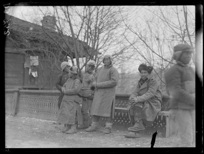 Китайские типы населения. Маньчжурия, апрель, 1919 года.