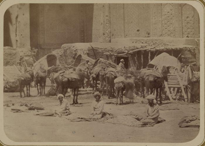 Торговля хлопком. Средняя Азия, конец XIX века.