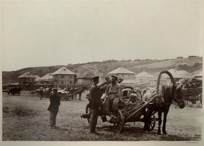 Возвращение казаков с ярмарки в Цимлянскую станицу. 1875-1876 год.