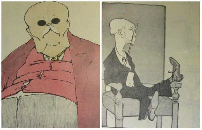 Карикатуры на писателей начала XX века.