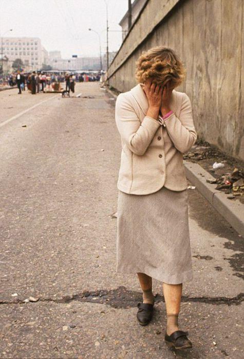 Во время Августовского путча. СССР, Москва, 1991 год.