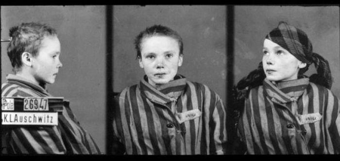 Четырнадцатилетняя узница Освенцима Чеслава Квока.