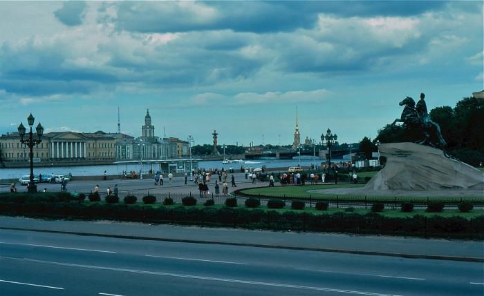 Памятник Петру I - Медный Всадник. СССР, Ленинград, 1981 год.
