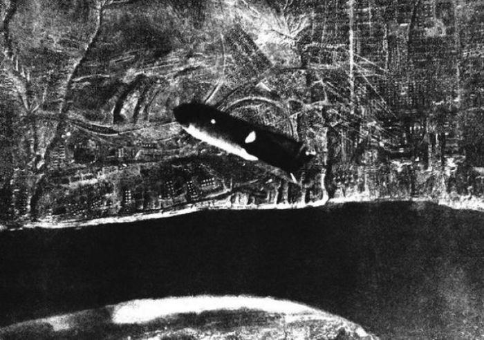 Летящая на Сталинград бомба.