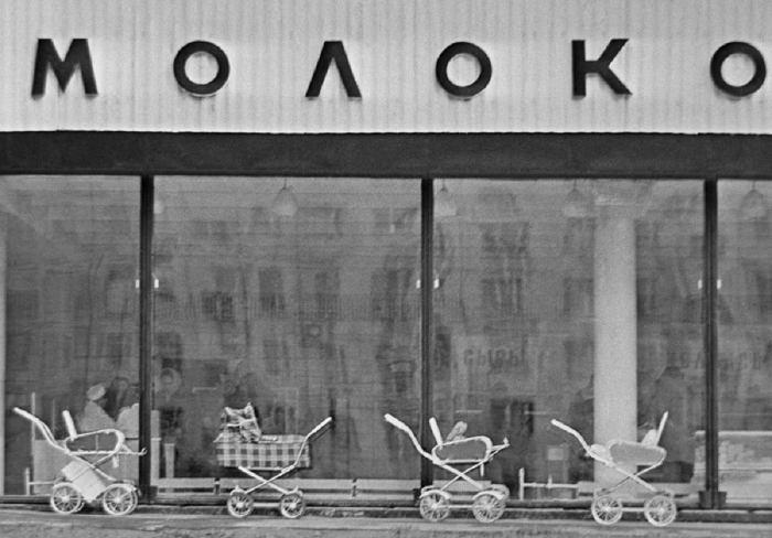 Магазин Молоко. СССР, Москва, 1970-е годы.