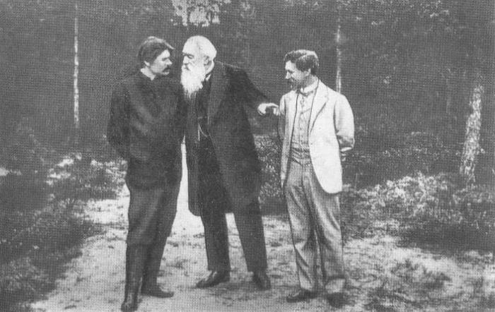 Горький, Стасов и Репин в Куоккале в 1900-х годах.