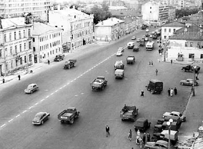 Садовое кольцо. СССР, Москва, 1957 год.