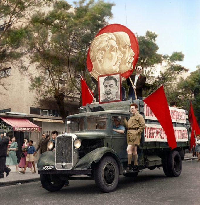 Демонстрация в Тель-Авиве в 1947 году.